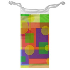 Colorful geometrical design Jewelry Bags