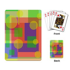 Colorful geometrical design Playing Card