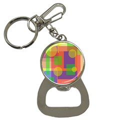 Colorful geometrical design Bottle Opener Key Chains