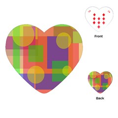 Colorful geometrical design Playing Cards (Heart)