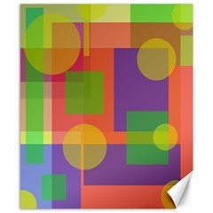 Colorful geometrical design Canvas 8  x 10