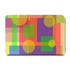 Colorful geometrical design Small Doormat