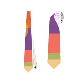 Colorful geometrical design Neckties (One Side)