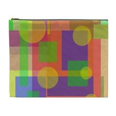 Colorful geometrical design Cosmetic Bag (XL)