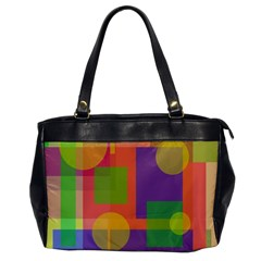 Colorful geometrical design Office Handbags