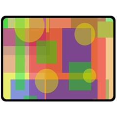 Colorful geometrical design Fleece Blanket (Large)