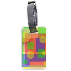 Colorful geometrical design Luggage Tags (Two Sides)