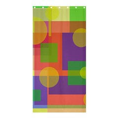 Colorful geometrical design Shower Curtain 36  x 72  (Stall)