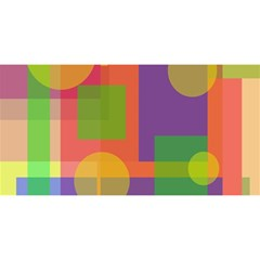 Colorful geometrical design YOU ARE INVITED 3D Greeting Card (8x4)