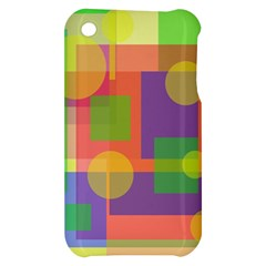 Colorful geometrical design Apple iPhone 3G/3GS Hardshell Case