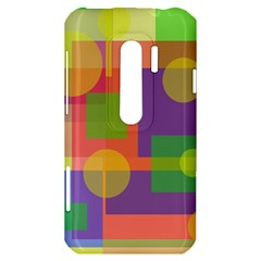 Colorful geometrical design HTC Evo 3D Hardshell Case
