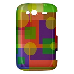 Colorful geometrical design HTC Wildfire S A510e Hardshell Case
