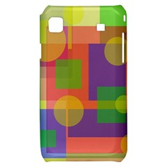 Colorful geometrical design Samsung Galaxy S i9000 Hardshell Case