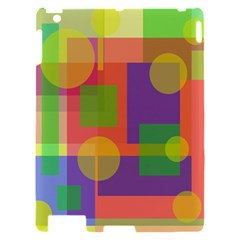 Colorful geometrical design Apple iPad 2 Hardshell Case