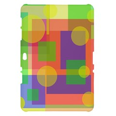 Colorful geometrical design Samsung Galaxy Tab 10.1  P7500 Hardshell Case