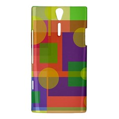 Colorful geometrical design Sony Xperia S