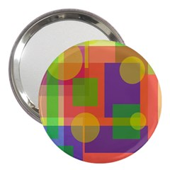Colorful geometrical design 3  Handbag Mirrors