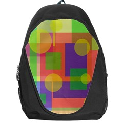 Colorful geometrical design Backpack Bag