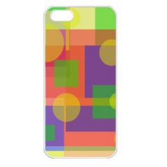 Colorful geometrical design Apple iPhone 5 Seamless Case (White)