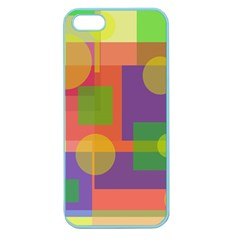 Colorful geometrical design Apple Seamless iPhone 5 Case (Color)
