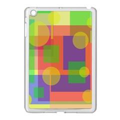 Colorful Geometrical Design Apple Ipad Mini Case (white)