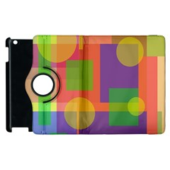 Colorful geometrical design Apple iPad 3/4 Flip 360 Case