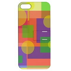 Colorful geometrical design Apple iPhone 5 Hardshell Case with Stand