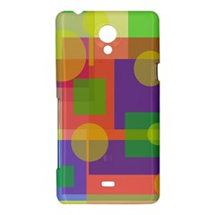 Colorful geometrical design Sony Xperia T