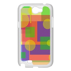 Colorful geometrical design Samsung Galaxy Note 2 Case (White)