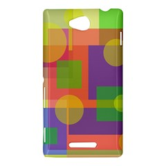 Colorful geometrical design Sony Xperia C (S39H)
