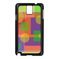 Colorful Geometrical Design Samsung Galaxy Note 3 N9005 Case (black)