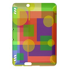 Colorful geometrical design Kindle Fire HDX Hardshell Case