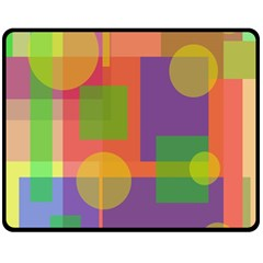 Colorful geometrical design Double Sided Fleece Blanket (Medium)