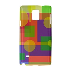 Colorful geometrical design Samsung Galaxy Note 4 Hardshell Case