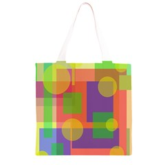 Colorful geometrical design Grocery Light Tote Bag