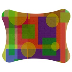Colorful geometrical design Jigsaw Puzzle Photo Stand (Bow)