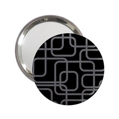 Black and gray decorative design 2.25  Handbag Mirrors