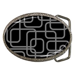 Black and gray decorative design Belt Buckles