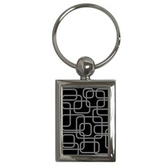 Black and gray decorative design Key Chains (Rectangle)