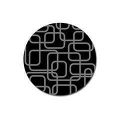 Black and gray decorative design Magnet 3  (Round)