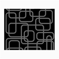 Black and gray decorative design Small Glasses Cloth (2-Side)