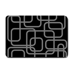 Black and gray decorative design Small Doormat