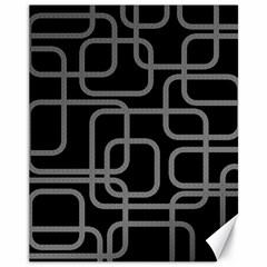 Black and gray decorative design Canvas 11  x 14