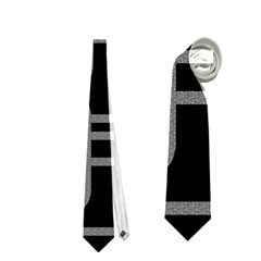 Black and gray decorative design Neckties (One Side)