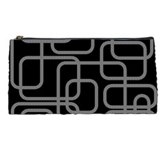 Black and gray decorative design Pencil Cases
