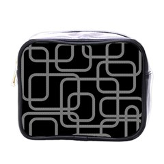 Black and gray decorative design Mini Toiletries Bags