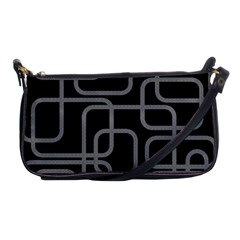 Black and gray decorative design Shoulder Clutch Bags