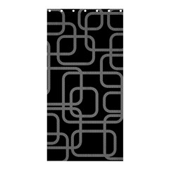 Black and gray decorative design Shower Curtain 36  x 72  (Stall)
