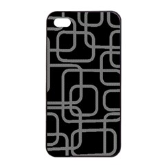 Black and gray decorative design Apple iPhone 4/4s Seamless Case (Black)