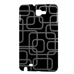 Black and gray decorative design Samsung Galaxy Note 1 Hardshell Case